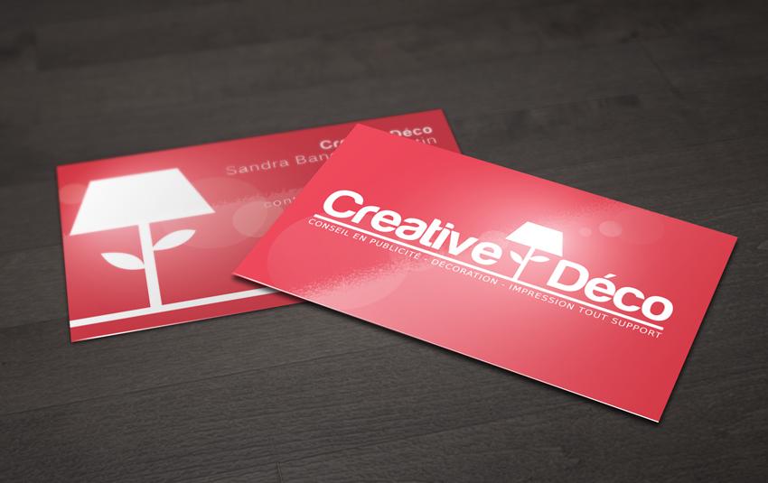 Cartes De Visite Glossy Pour Creative Deco