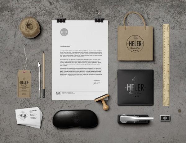 HELER-epicerie-logo-branding-carte-de-visite