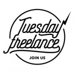 logo Tuesday Freelancenoir&blanc, style hipster